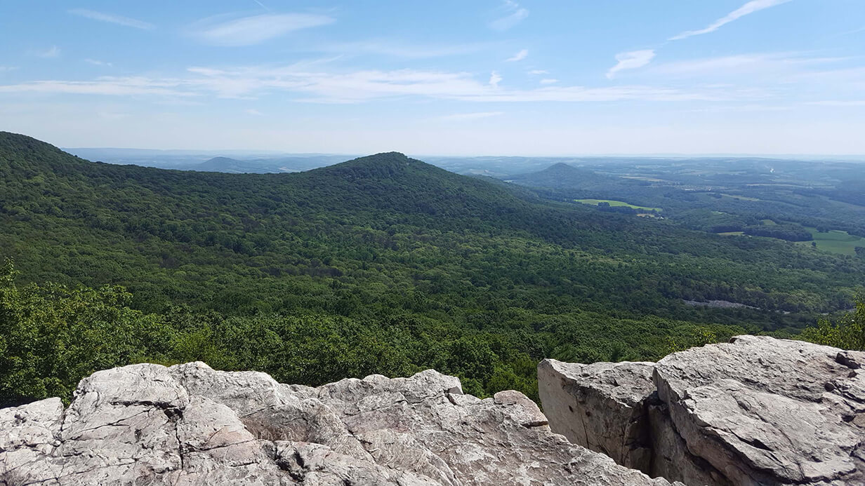 A landscape picture from Hawk Mountain; Taken by Colin Greybosh